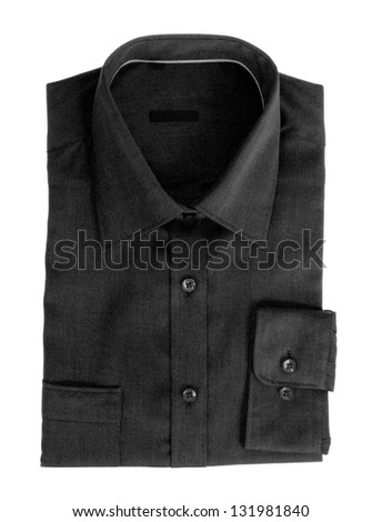 Black cotton shirt for men