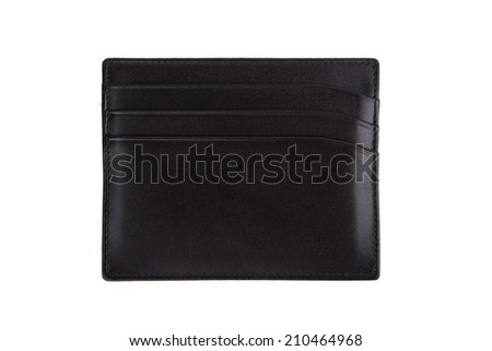 Black credit cards wallet isolated on white background - stock photo
