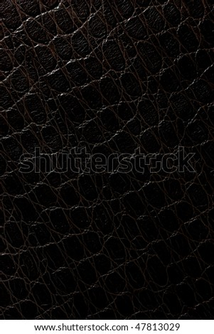 black crocodile leather pattern - stock photo
