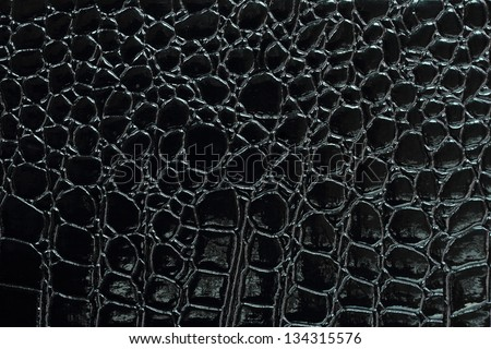 Black Crocodile Leather Texture Background Stock Photo ...