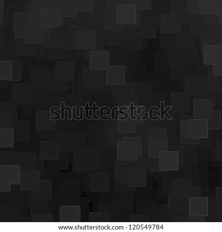 black cube background with abstract lines pattern - stock photo