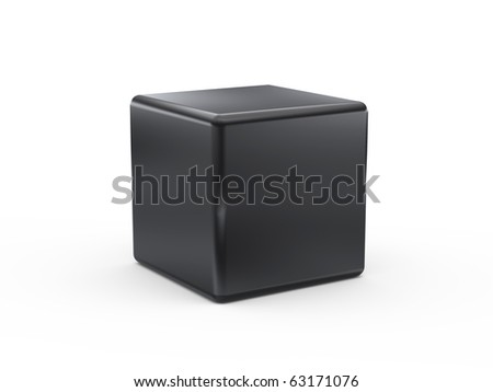 black cube on white