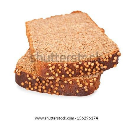 Black cumin bread on a white background, isolated