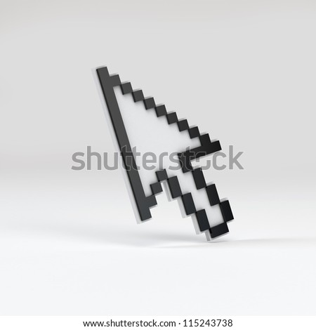 Black cursor on white background