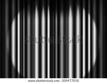 Black curtain stage with spot light background  - stock photo