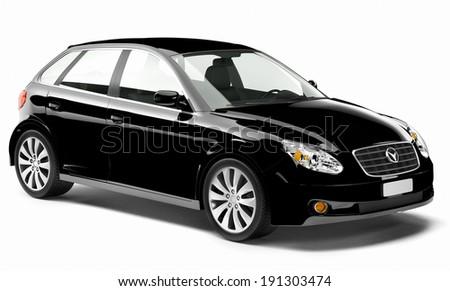 Black 3D Car - stock photo