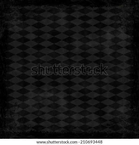 Black, dark, gray grunge background. Abstract vintage texture with frame and border.
