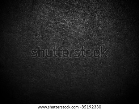 Black dark leather background or texture - stock photo