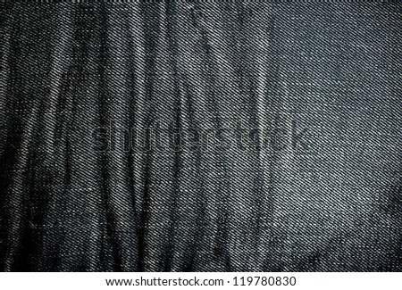black Denim fabric texture - stock photo