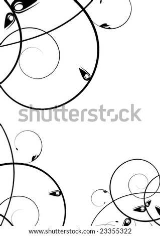 black design ornament with text space illustration