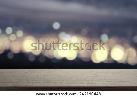 black desk space and night  - stock photo