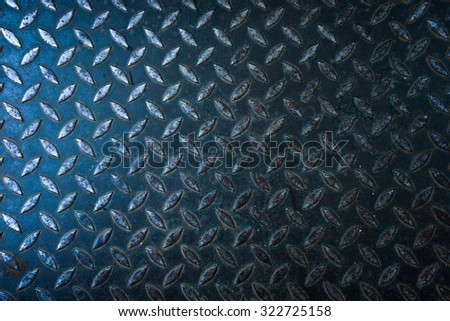 black diamond steel plate - stock photo