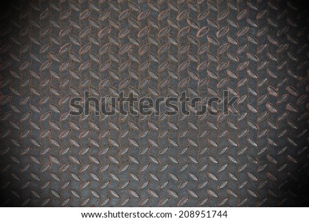 Black diamond steel plate Black and white vintage looking useful as background - stock photo