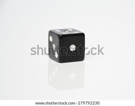black dice - stock photo