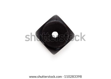 Black dice against a white background - stock photo