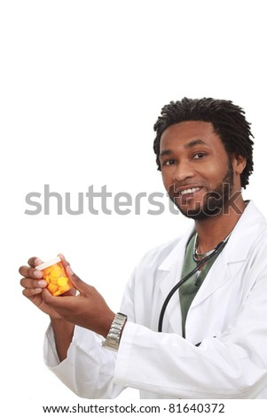Black doctor - stock photo