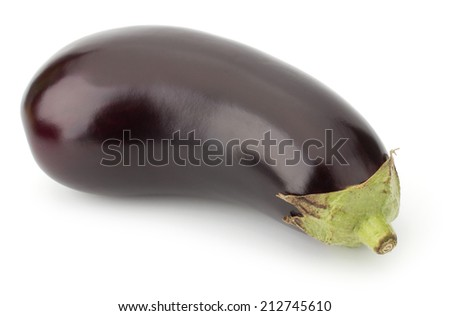 Black eggplants isolated on white background - stock photo