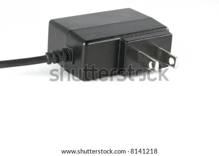 Black electrical power cord