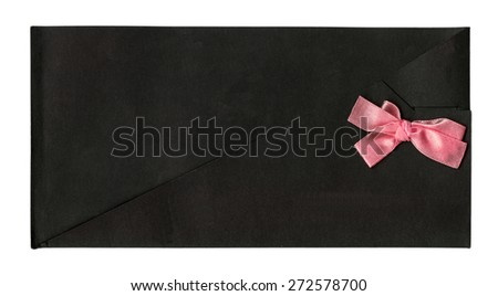 black envelope for invitations