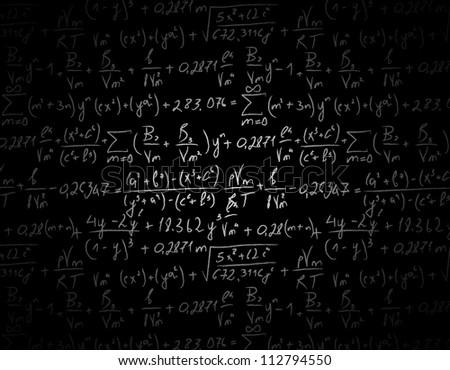 blackboard physical equations formulas vector illustration stock vector  shutterstock
