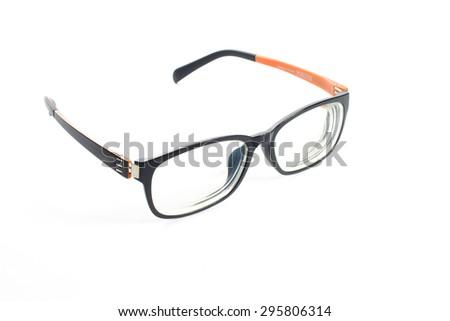 Black Eye Glasses Isolated on White backgroubd - stock photo