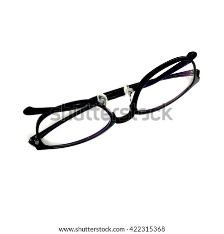Black Eye Glasses Isolated on White Background Great For Any Use.