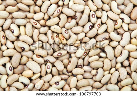 Black eyed peas pattern texture as beans background, top view