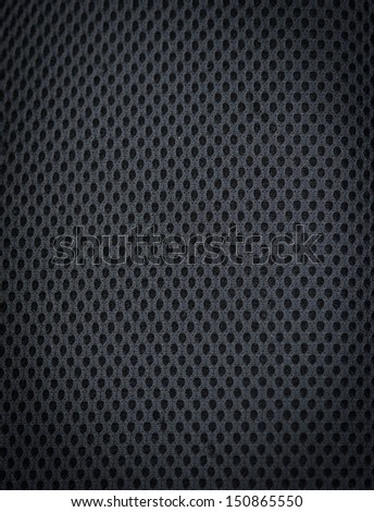 Black fabric for backpack back - stock photo
