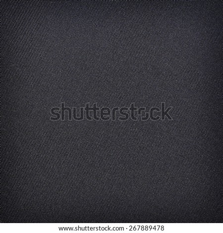 Black fabric texture. Clothes background - stock photo
