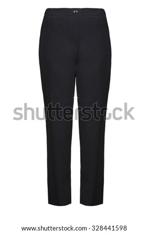 black female pants - stock photo