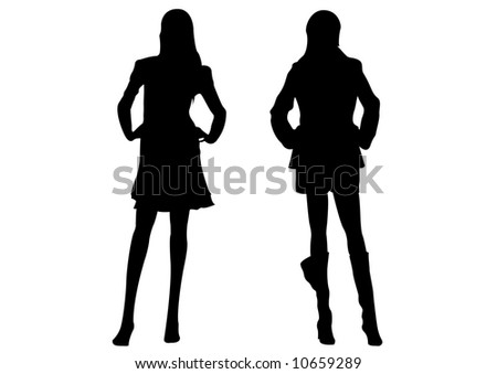 black female silhouettes standing