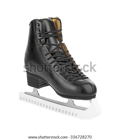 Black figure skates isolated on white background