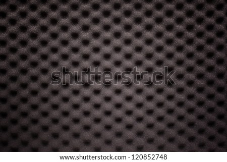 Black foam with wave texture - stock photo
