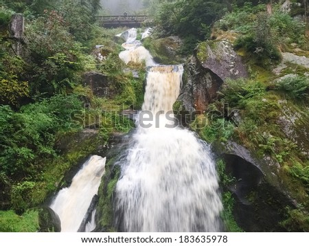 Black forest, Germany - August 28, 2012: The Triberg waterfalls in the Black Forest - stock photo