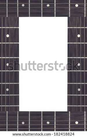 black frame from guitar finger boards with place for text