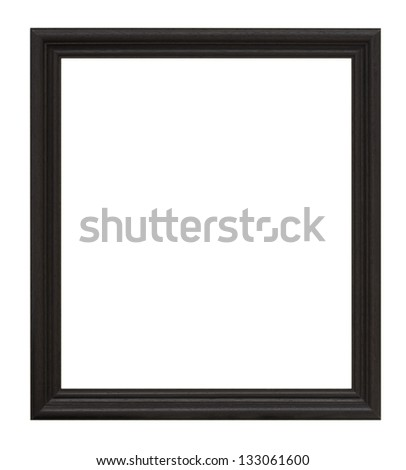 Black frame isolated on a white background. - stock photo