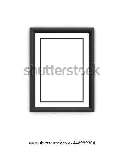 black frame isolated on a white background