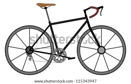 Black frame road bicycle