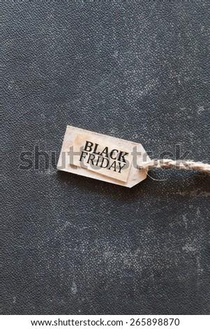 Black Friday, Inscription on the label  - stock photo
