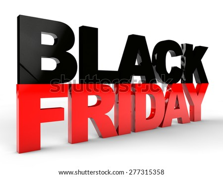 Black Friday over white background - stock photo