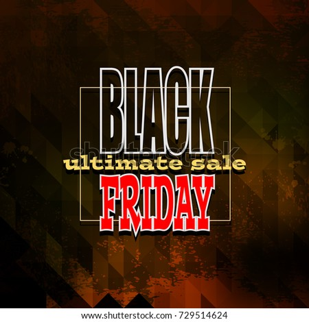 black friday sale background, illustration clip-art