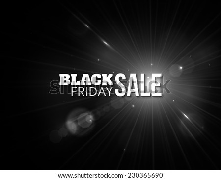 Black friday sale. Shining christmas background with blurred bokeh lights and place for text.  - stock photo