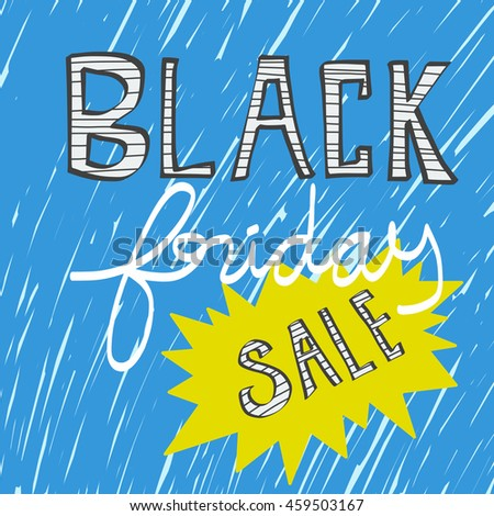 Black Friday sale word illustration