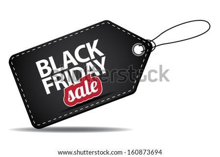 Black Friday sales tag. jpg. - stock photo