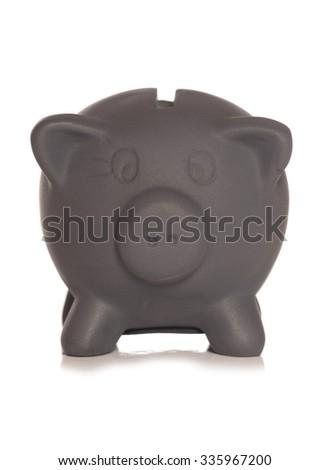 Black friday savings piggy bank cutout - stock photo