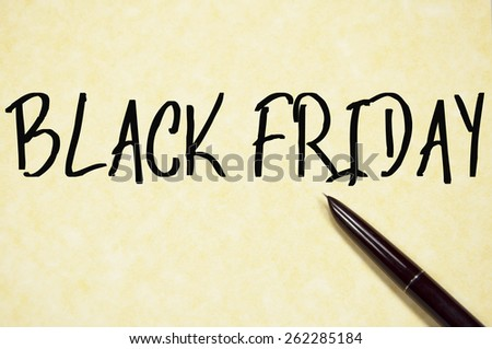 black friday text write on paper  - stock photo