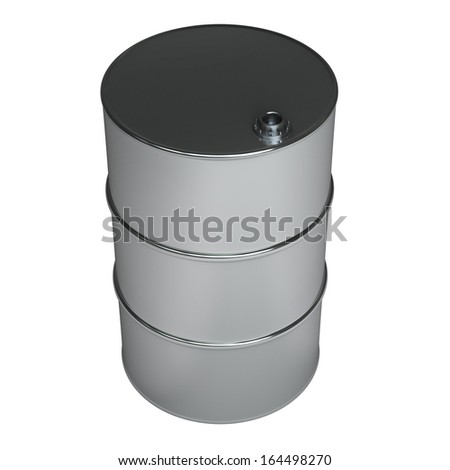 black FUEL barrel  isolated on white background High resolution 3d