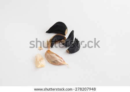 Black garlics 8 - stock photo