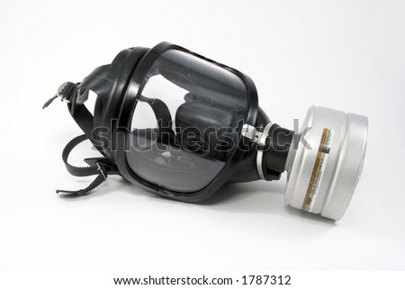 Black Gas Mask on white background