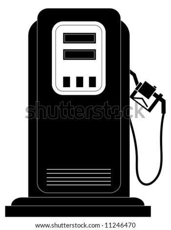 black gas or fuel pump silhouette